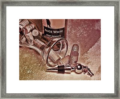 Wine Texture Framed Print by Peter Chilelli