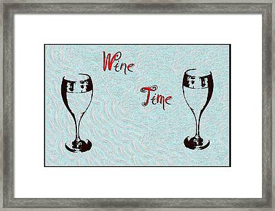Wine Time Framed Print by Bill Cannon