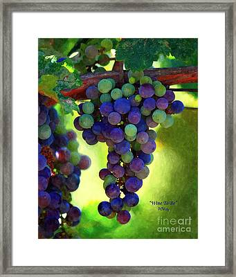 Wine To Be - Art Framed Print by Patrick Witz