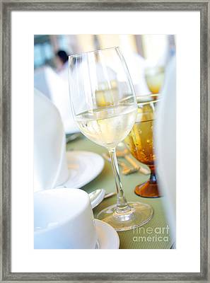 Wineglass Framed Print by Atiketta Sangasaeng