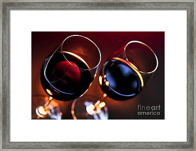 Wineglasses Framed Print by Elena Elisseeva