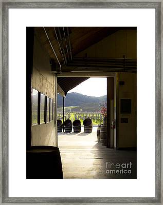 Framed Print featuring the photograph Wineries by Leslie Hunziker