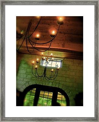 Winery Ceiling Framed Print by Amber Hennessey