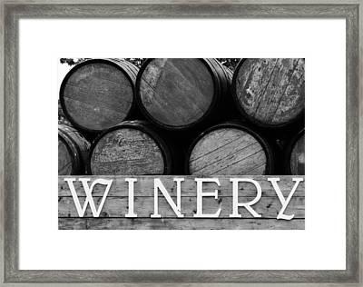 Winery  Framed Print by Meagan  Visser