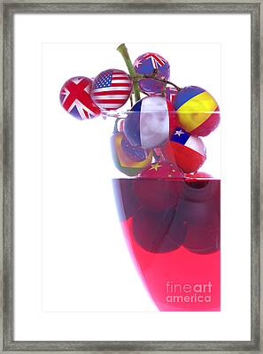Wines From All Countries Framed Print by Simon Bratt Photography LRPS