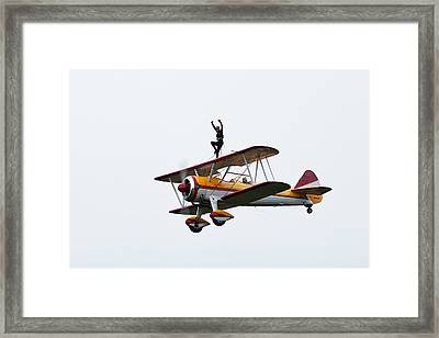 Wing Walker Framed Print by Sara Hudock