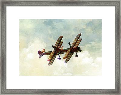 Wing Walkers Framed Print by Jacqui Kilcoyne