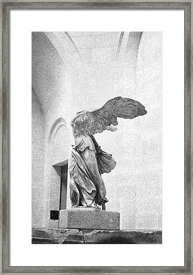 Framed Print featuring the photograph Winged Victory Of Samothrace by Louis Nugent