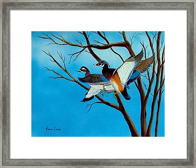 Wingin'  It Framed Print