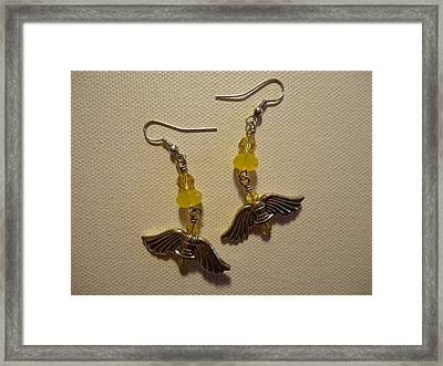 Wings Of An Angel Earrings Framed Print by Jenna Green