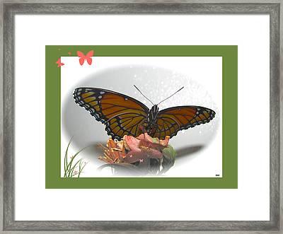 Wings Of Beauty Framed Print by Debra     Vatalaro