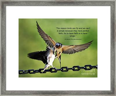 Wings Of Faith Framed Print