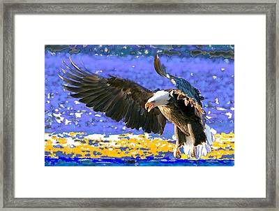 Framed Print featuring the digital art Wings On High by Carrie OBrien Sibley