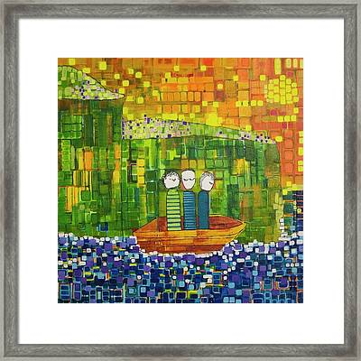 Framed Print featuring the painting Wink Blink And Nod by Donna Howard