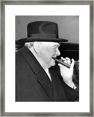 Winston Churchill, 1953 Framed Print