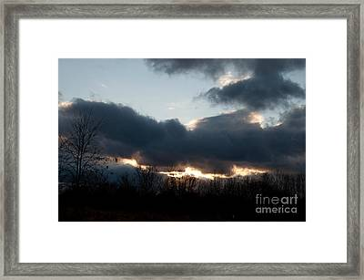 Winter Afternoon Clouds Framed Print by Gary Chapple