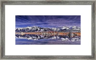 Winter Around The Lake Framed Print