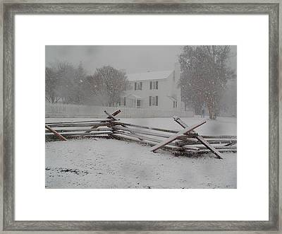 Winter At Endview Framed Print by Catherine Kurchinski