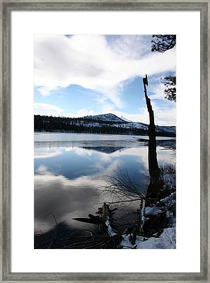 Winter At The Lake Framed Print by Ken Riddle