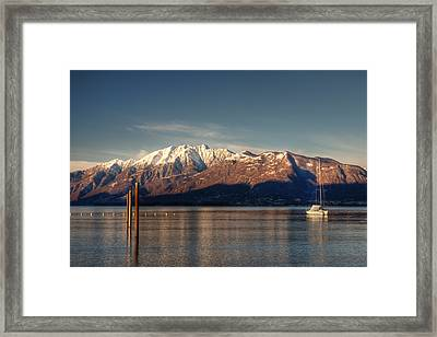 winter at the Lake Maggiore Framed Print