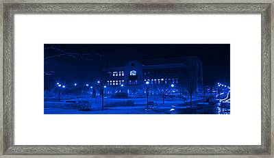 Winter Blues - Love In The Library Framed Print