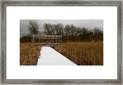 Winter Boardwalk Framed Print