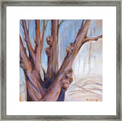 Framed Print featuring the painting Winter Bones by Sally Simon