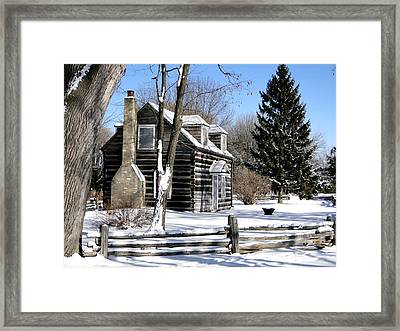 Winter Cabin 1 Framed Print