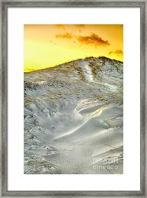Winter Cape Cod Sunset Framed Print