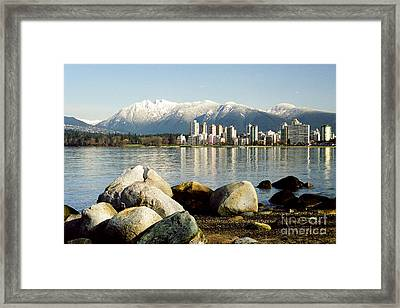 Winter Cityscape Framed Print by Frank Townsley