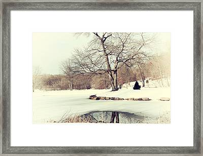 Winter Day In The Park Framed Print