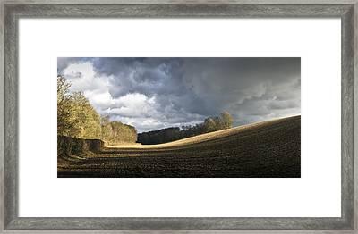 Winter Field Showers Framed Print by Gary Eason