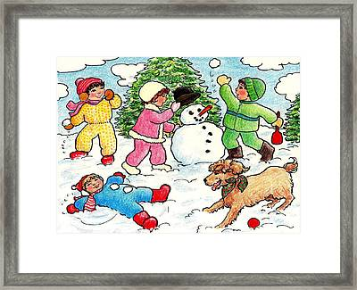 Winter Fun Framed Print by Dee Davis