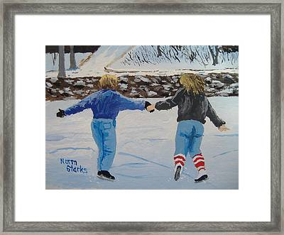 Framed Print featuring the painting Winter Fun by Norm Starks