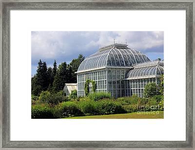 Winter Gardens In Helsinki Framed Print by Sophie Vigneault