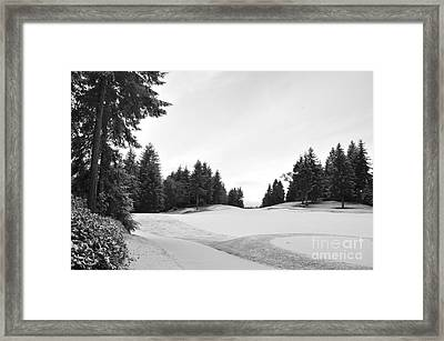 Winter Golf Course  2 Framed Print by Tanya  Searcy