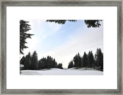 Winter Golf Course  4 Framed Print by Tanya  Searcy