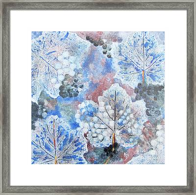 Framed Print featuring the painting Winter Grapes I by Karen Fleschler