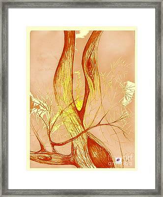 Winter Greenlake Tree 3 Framed Print