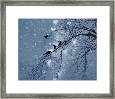 Winter Hearts Framed Print by Gothicrow Images