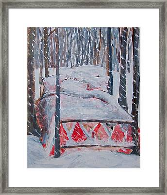 Winter Hybernation Framed Print by Tilly Strauss