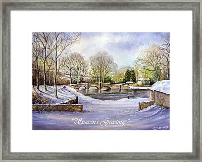 Winter In Ashford Xmas Card Framed Print by Andrew Read