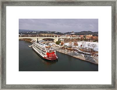Winter In Coolidge Park Framed Print by Tom and Pat Cory