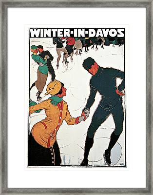 Winter In Davos Framed Print by Burkhard Mangold
