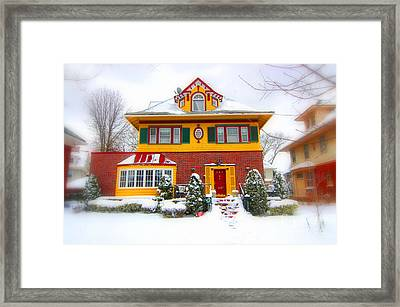 Winter In Ditmas Park Framed Print by Mark Gilman