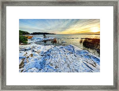 Winter In Finland Framed Print by Roman Rodionov