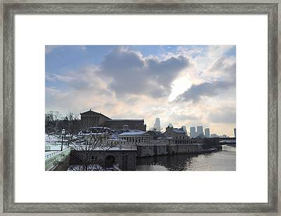 Winter In Philly Framed Print by Bill Cannon