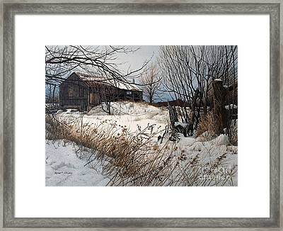 Winter In Prince Edward County Framed Print