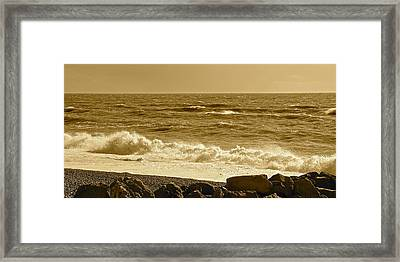 Winter In Sepia Framed Print by Karen Grist