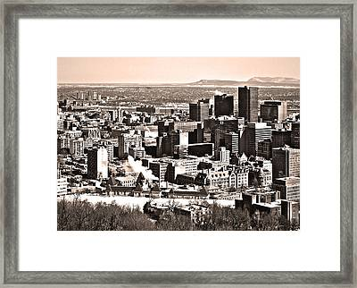 Winter In The City ... Framed Print